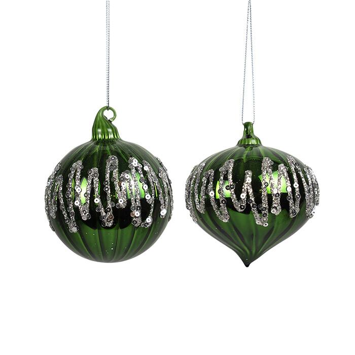 Glass Ball Emerald/Silver