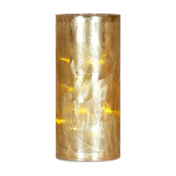 Led Champagne Leaf Cylinder