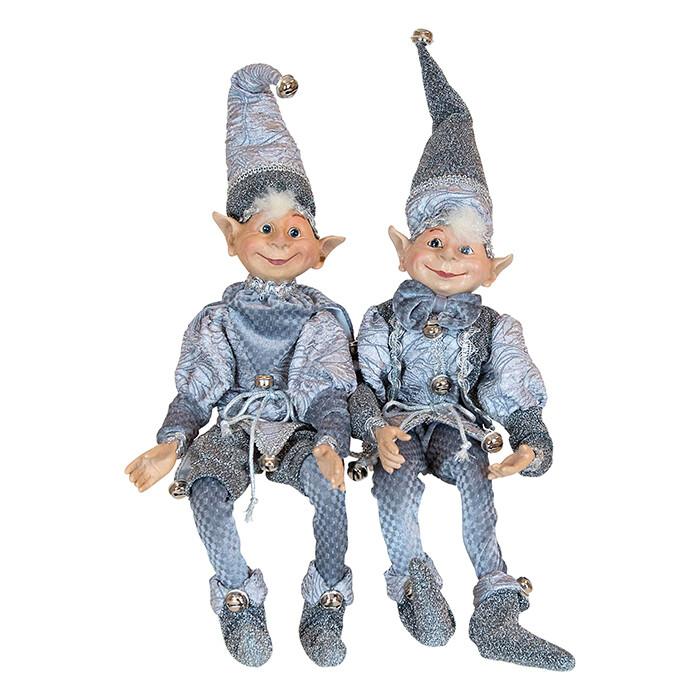 Sitting Gnome-Light Silver Hat