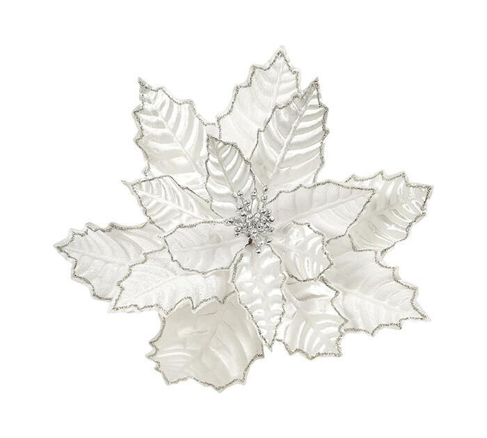 Poinsettia Crinkled White