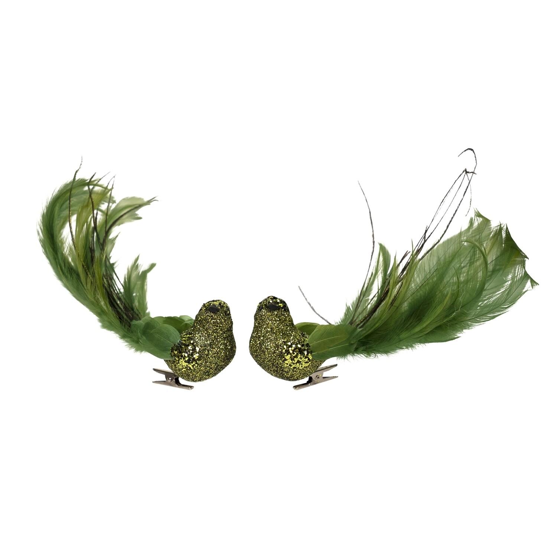 Bird-Feather Dark Green Foil A