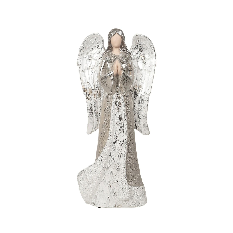 Angel-Praying Silver White