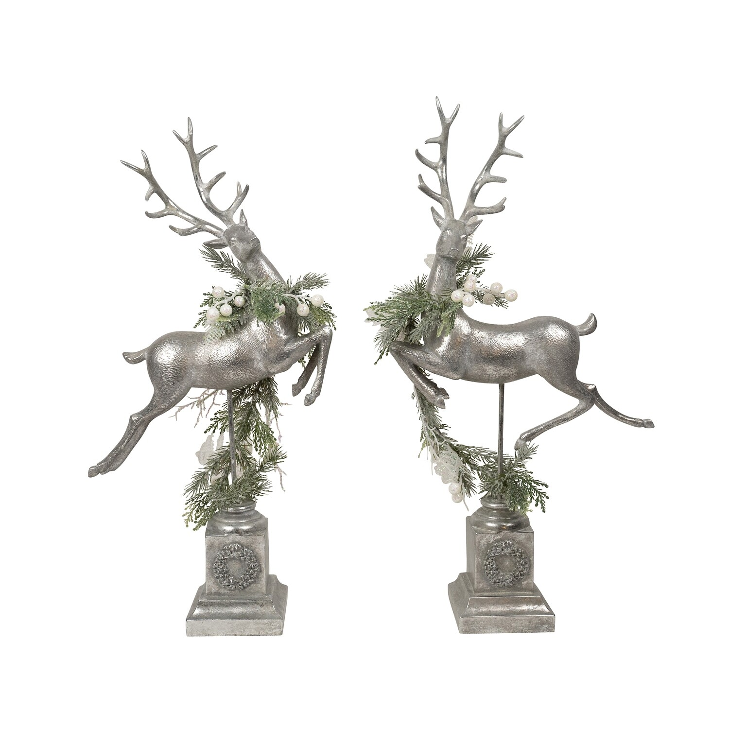 Deer-Silver Leaping A