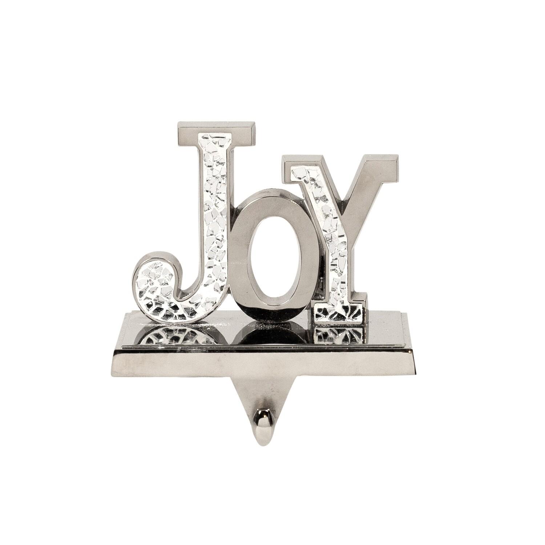Stocking Holder-Joy Silver