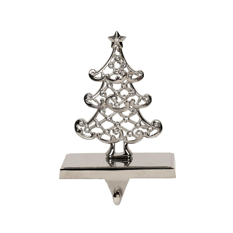 Stocking Holder-Tree Silver