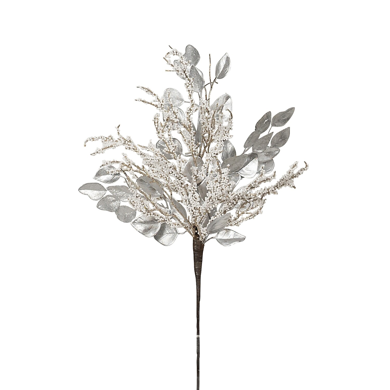 Spray-Berry White Silver Leaf