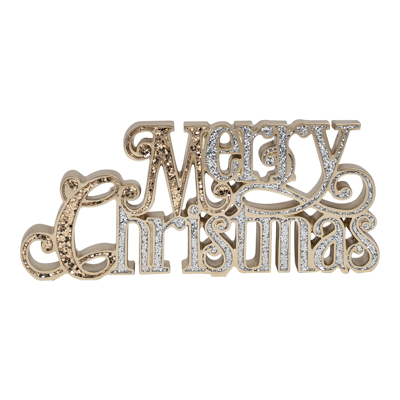 Tablepiece-Merry Christmas Glitter
