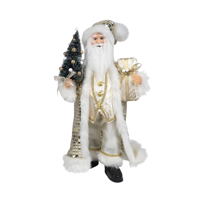 Santa-Champagne W/Tree & Parcel