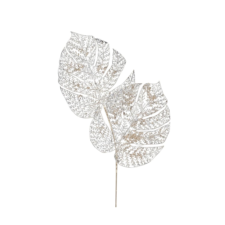 Spray-Champagne W/Skeleton Leaves