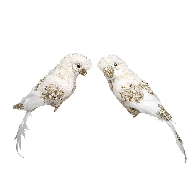 Birds-Cream Gold hanging B