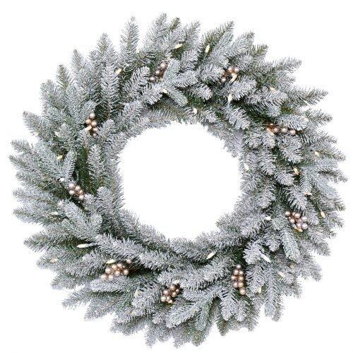 Wreath-Snowy Morgan 61cm