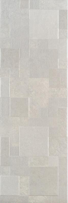 Stonework Gray Square Decor 25Х75