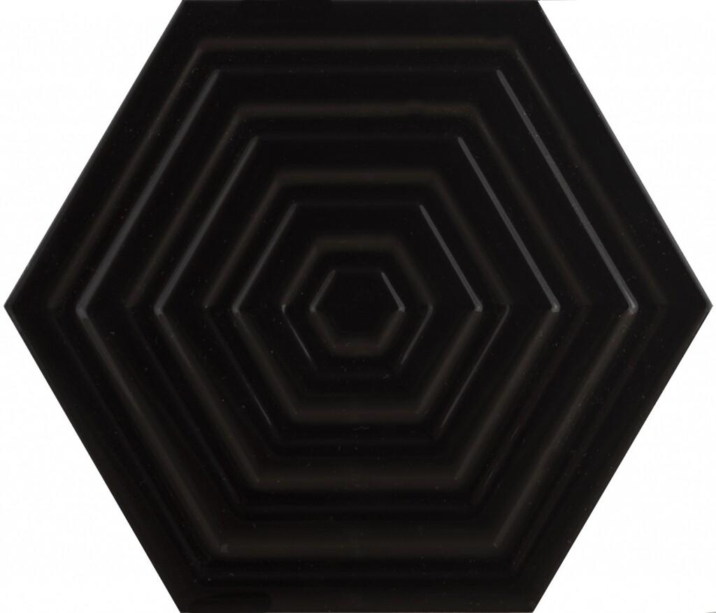 Subway Black Hexa Structured 20х23
