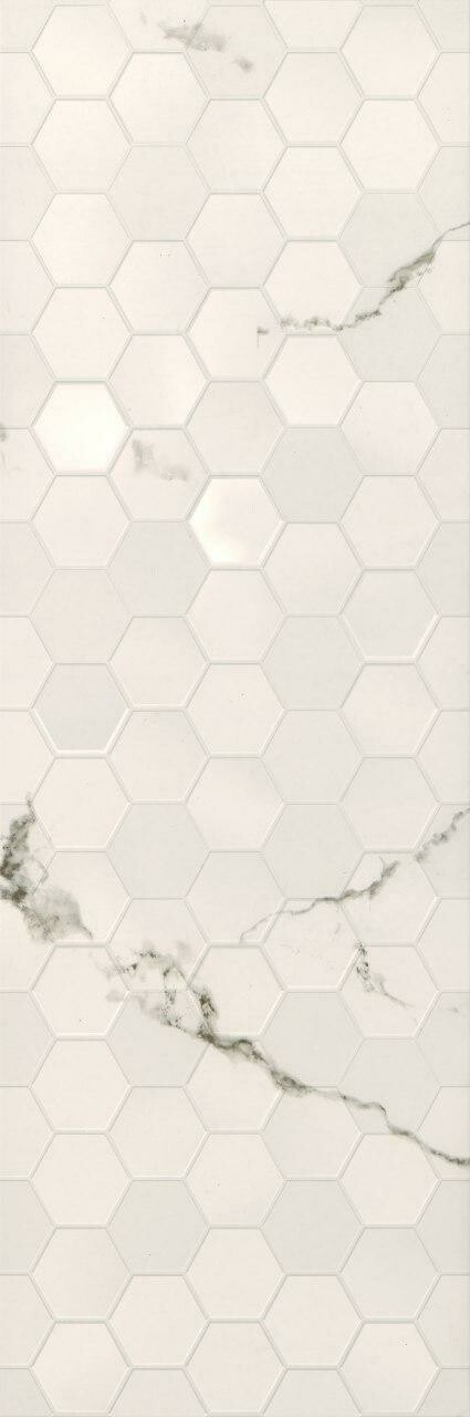 Pars Cherita Structure Hexagon White 30*90
