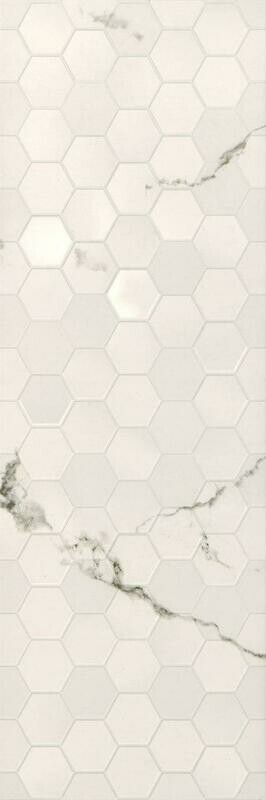 Pars Cherita Structure Hexagon White 30*90