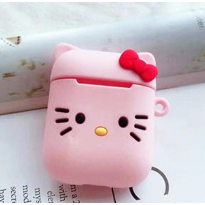 AirPods Чехол. Хелоу-Кити розовый.
