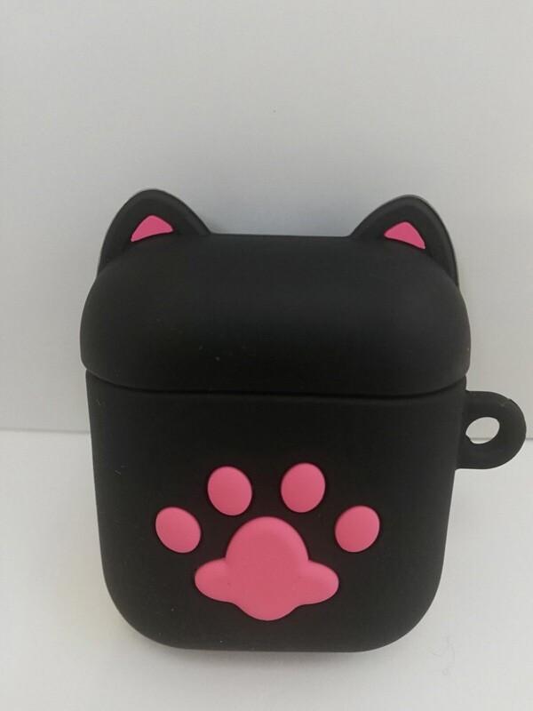 AirPods чехол. Black cat.