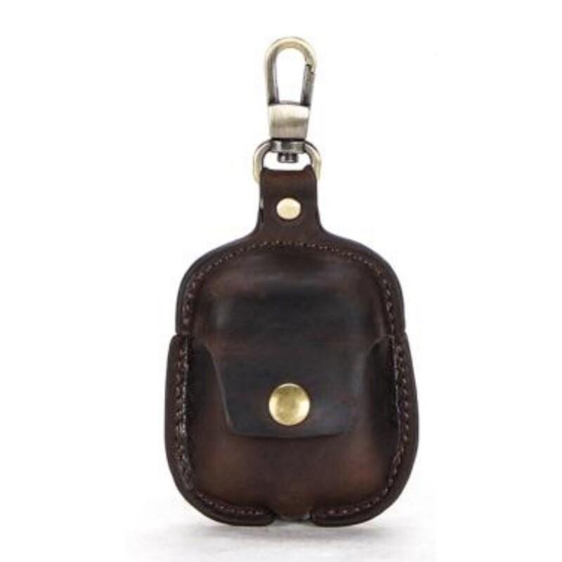 Francesco Molinary чехол для AirPods 2. Натуральная итальянская кожа. Coffee