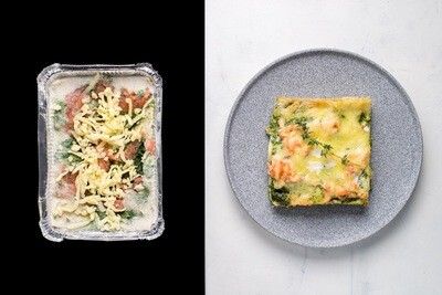 Лазанья з лососем та шпинатом