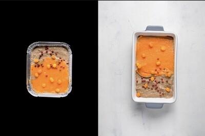 Паштет з курячої печінки з морквяним гелем, 285г
