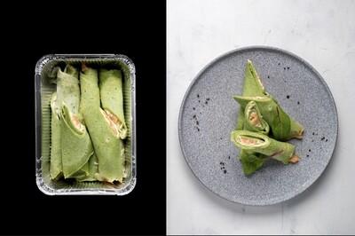Млинці шпинатні з лососем, 525г