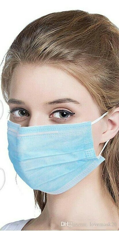 CE 3 Layer Disposable Face Masks Anti Dust Mouth-muffle Men Women Anti Fog Mouth Breathable