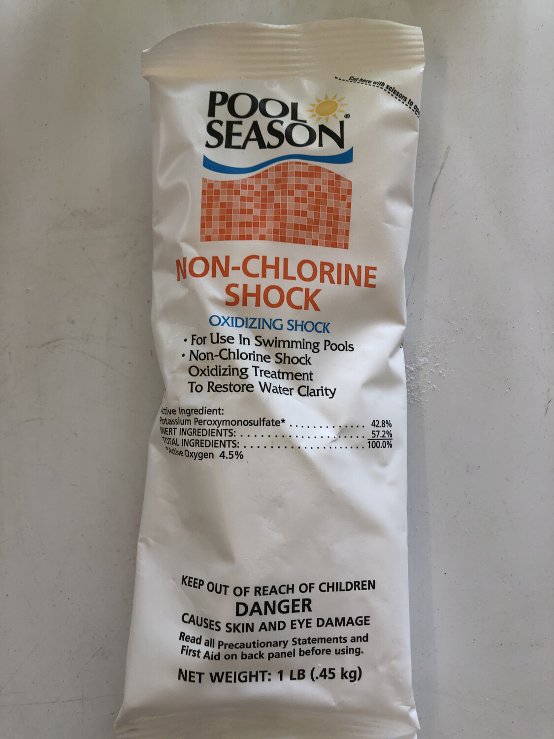 POOL SEASON NON-CHLORINE SHOCK 1LB