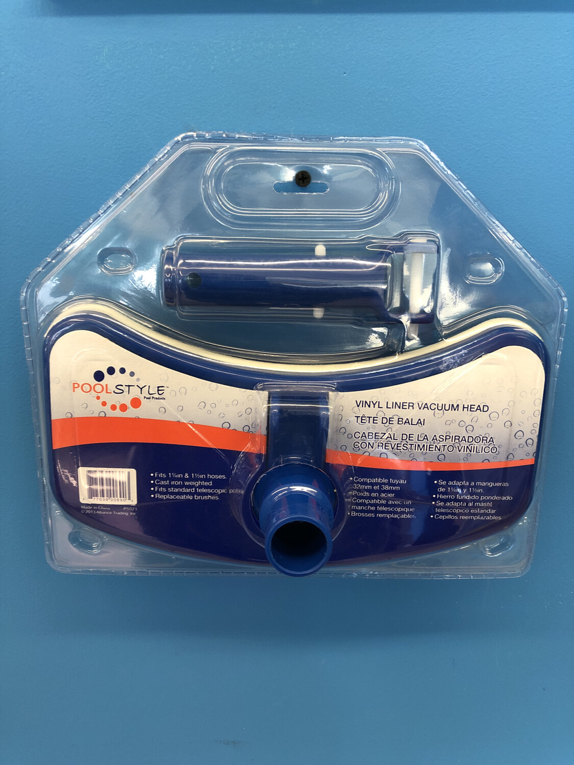 POOL STYLE VAC HEAD DLX W/BUMPER (VL) PS023 (WEIGHTED)