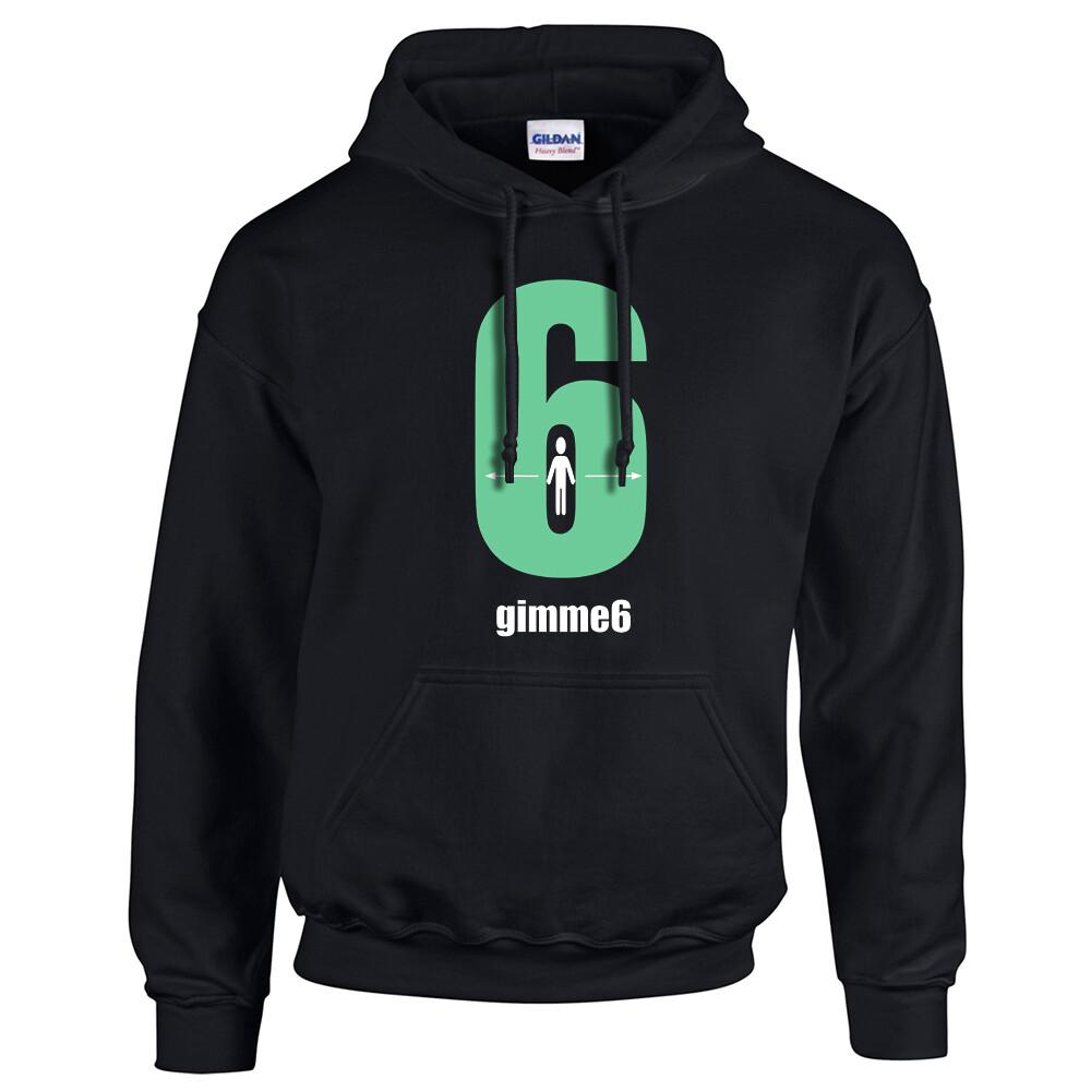 gimme6feet Adult Heavy Blend Hooded Sweatshirt