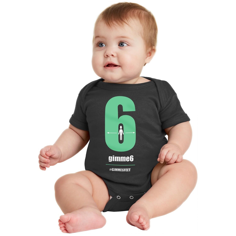 gimme6feet Infant Short Sleeve Onesie