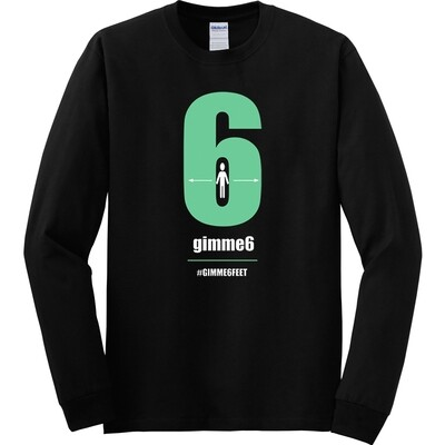gimme6feet Adult Heavy Cotton Long Sleeve T-Shirt