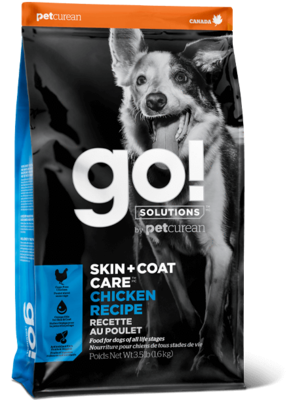 GO! SKIN & COAT CKN DOG  3.5 LB.