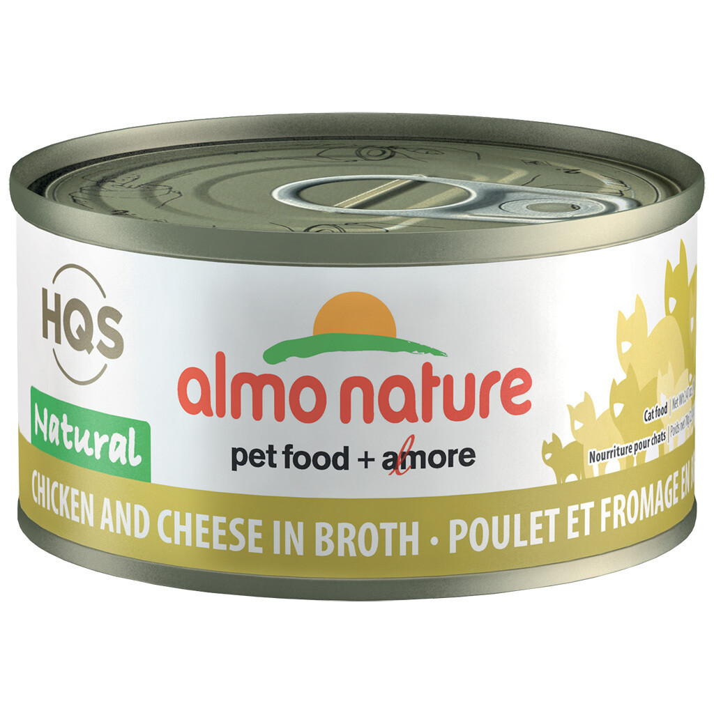 ALMO NATURE CKN/CHEESE 70GM.