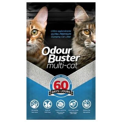 ODOUR BUSTER CONTROL MULTI-CAT PREMIUM CLUMPING LITTER 12 KG.