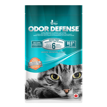 CAT LOVE ODOR DENSE CLUMPING UNSCENTED LITTER 12KG.