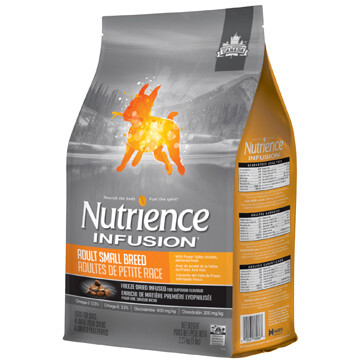 NUTRIENCE INFUSION DOG CHICKEN SM BREED 2.27KG.