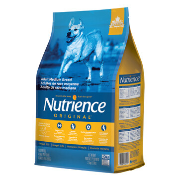 NUTRIENCE ORIGINAL DOG CHICKEN & BROWN RICE MED BREED 2.5KG.