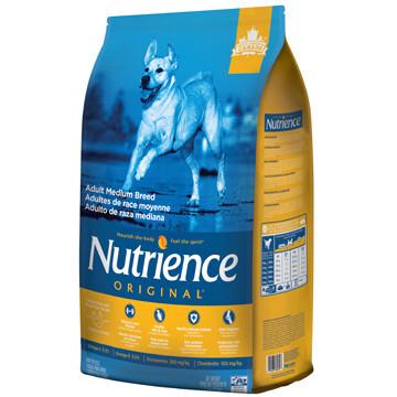 NUTRIENCE ORIGINAL DOG CHICKEN & BROWN RICE MED BREED 11.5KG.