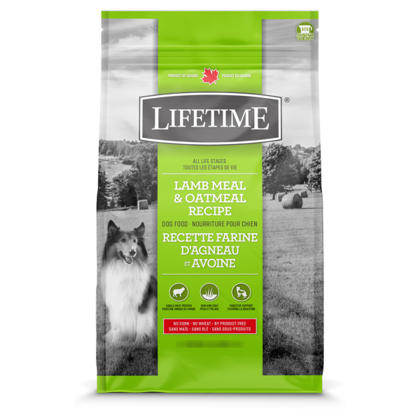 LIFETIME DOG LAMB & OATMEAL 11.4KG.