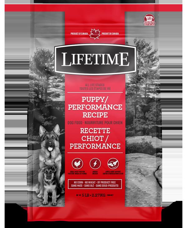 LIFETIME DOG CHICKEN & OATMEAL PUPPY 11.4KG.