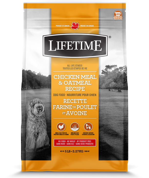 LIFETIME DOG CHICKEN & OATMEAL 11.4KG.