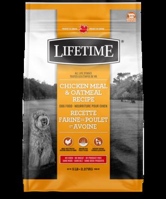 LIFETIME DOG CHICKEN & OATMEAL 11.4KG.