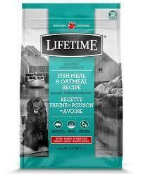LIFETIME DOG FISH & OATMEAL 11.4KG.
