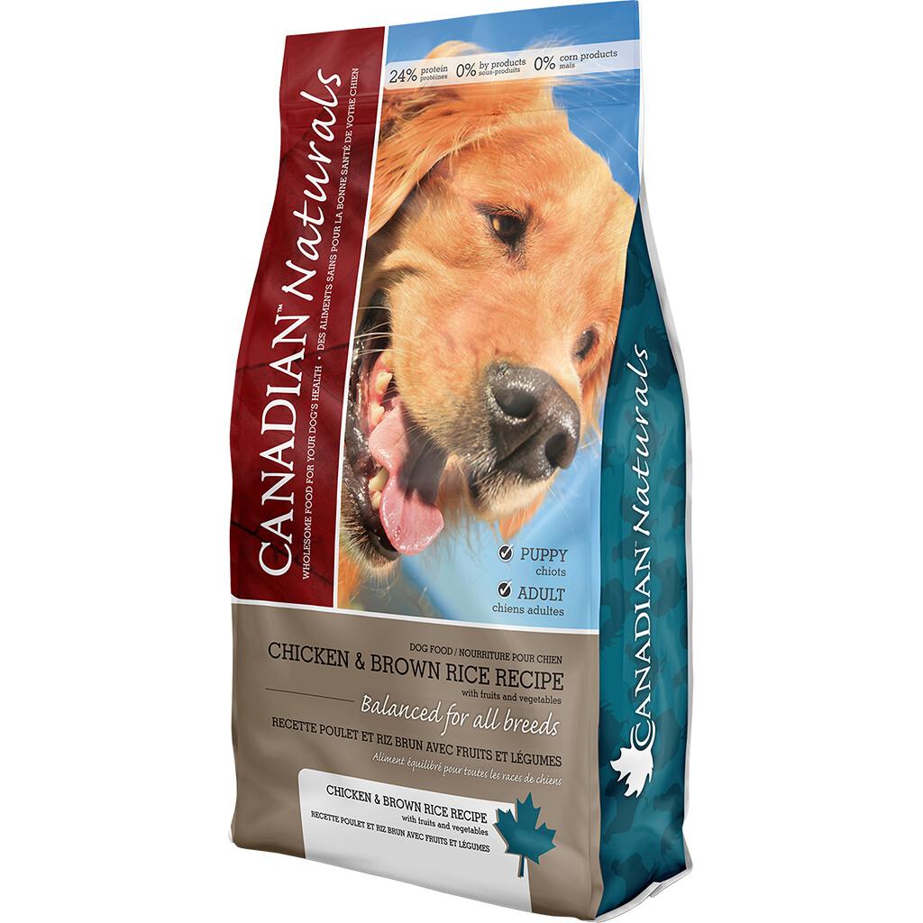 CANADIAN NATURALS DOG CHICKEN & BROWN RICE 13.6KG.