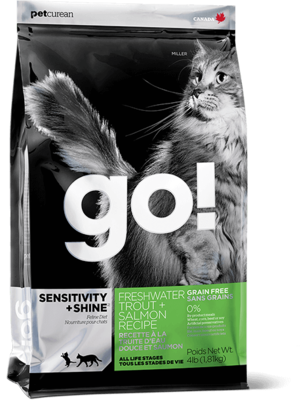 GO! CAT FRESHWATER TROUT & SALMON 3.63KG.