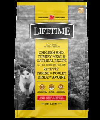 LIFETIME CAT CHICKEN/TURKEY/OATMEAL 2.27KG.