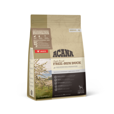 ACANA SINGLES DOG FREE RUN DUCK 2KG.