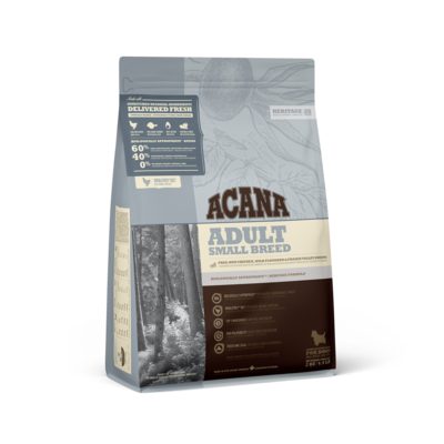 ACANA HERITAGE DOG ADULT SM BREED 2KG.