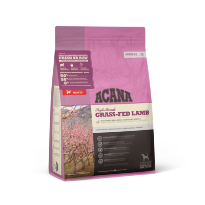 ACANA SINGLES DOG GRASS FED LAMB 2KG.