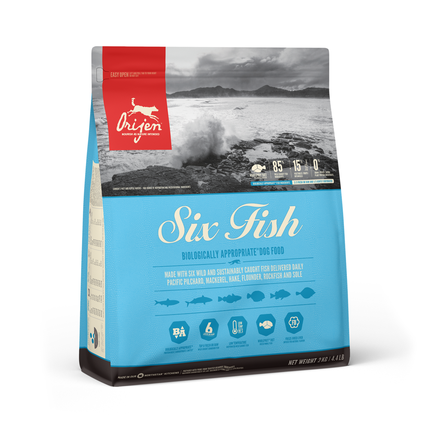 ORIJEN DOG SIX FISH 2KG.